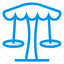 amusement, garden, holiday, park, play, swing, umbrella icon