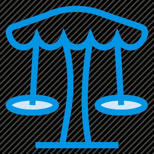 Amusement, garden, holiday, park, play, swing, umbrella icon - Download on Iconfinder