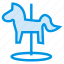 animal, enjoy, game, horse, playing, riding, toy icon