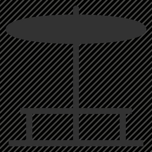 beach, beachumbrella, chair, shades, summer, sunbath, sunny icon