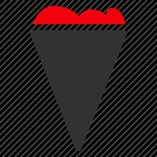 cone, cream, delicious, enjoy, ice, sweet, tasty icon