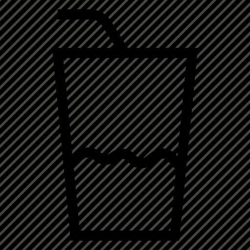 bar, drink, glass, juice, liquid, soda, water icon