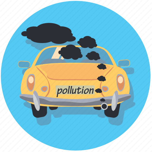 car, pollution, transportation, vehicle icon