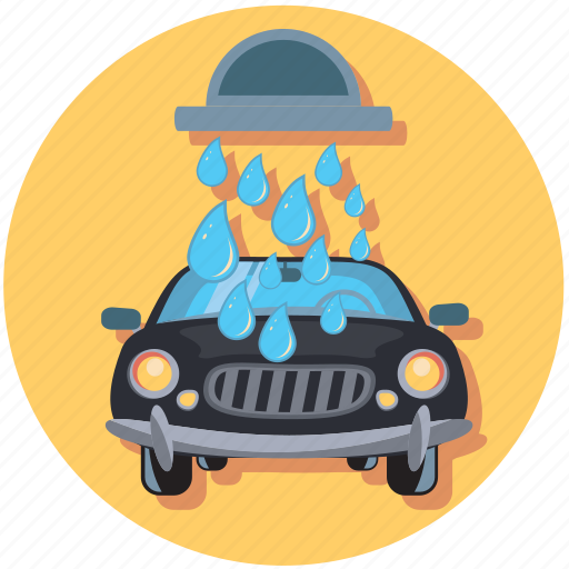 car, carwash, drop, water icon