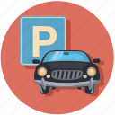 automobile, car, parking, traffic, vehicle icon