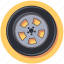 car, tire, vehicle, wheel icon