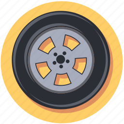 car, tire, vehicle, wheel icon
