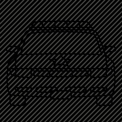 auto, car, crime, law, police, security icon
