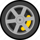 car, transportation, vehicle, wheel icon