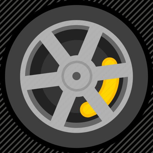 car, transportation, vehicle, wheel icon