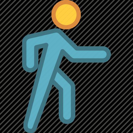 speech, walk, walking icon