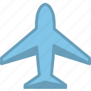 aeroplane, aircraft, airplane, plain, plane, transportation, travel icon