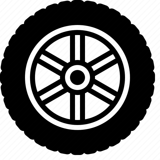 car parts, car tire, rim, rubber tire, tire, tyre, wheel icon