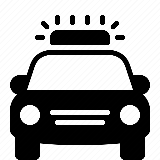 car, emergency, law enforcement, patrol, police, siren, vehicle icon