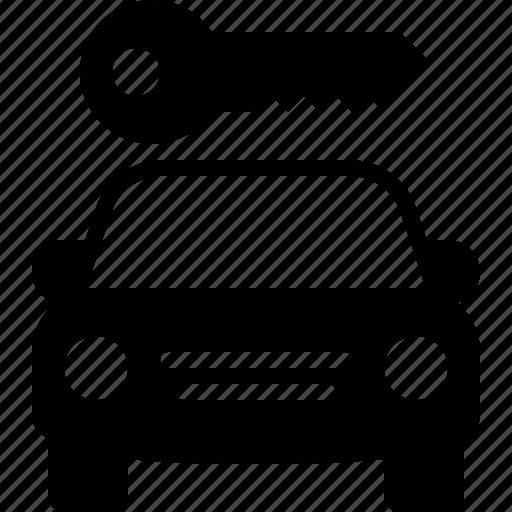 car, car rental, key, rent, share, transportation, vehicle icon