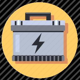 acumulator, battery, circle, round, start icon