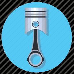 automobile, car, engine, piston, vehicle icon