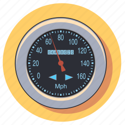 car, gauge, measure, meter, speed, speedometer icon