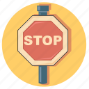 sign, stop, road, traffic, warning
