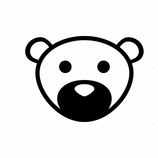 animal, bear, cartoon, puppet icon