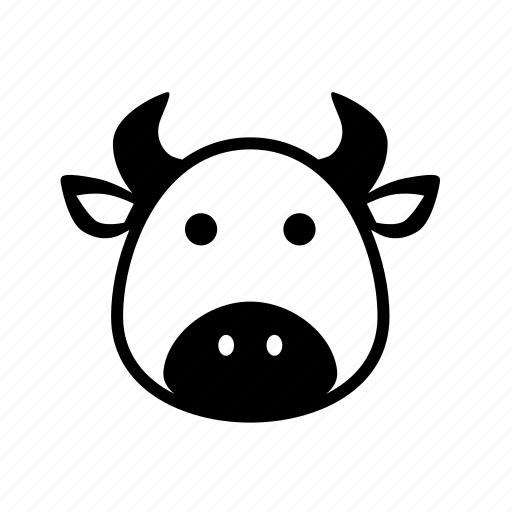 animal, bull, cartoon, cow, puppet icon