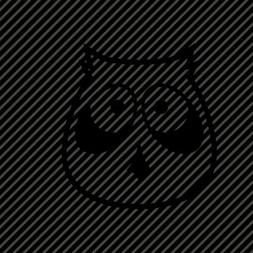 animal, cartoon, night, owl, puppet icon