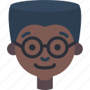 avatars, boy, cartoon, emoji, emoticons, glasses icon