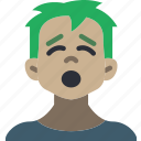avatars, boy, cartoon, emoji, emoticons, tired icon
