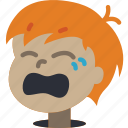 avatars, boy, cartoon, crying, emoji, emoticons icon
