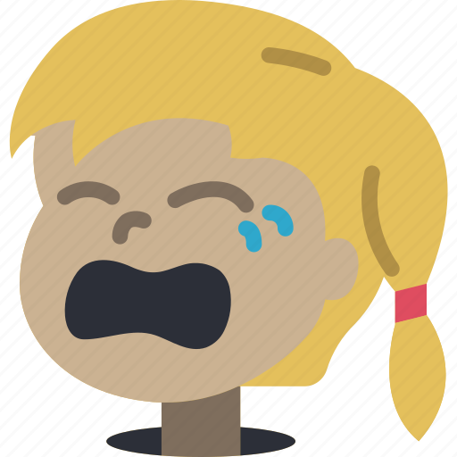 avatars, cartoon, crying, emoji, emoticons, girl icon
