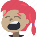 avatars, cartoon, emoji, emoticons, girl, yawn
