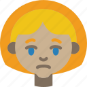 avatars, cartoon, emoji, emoticons, girl, sad