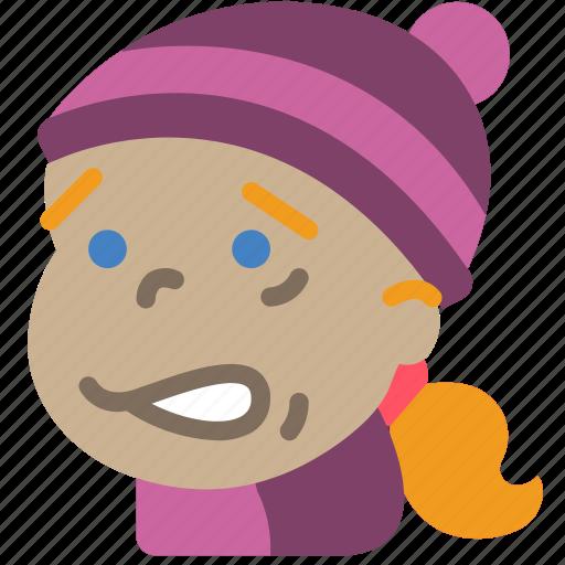 Avatars, cartoon, cold, emoji, emoticons, girl icon - Download on Iconfinder