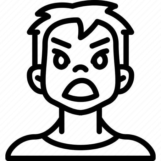 Angry, avatars, boy, cartoon, emoji, emoticons icon - Download on Iconfinder
