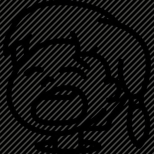 Avatars, cartoon, emoji, emoticons, girl, yawn icon - Download on Iconfinder