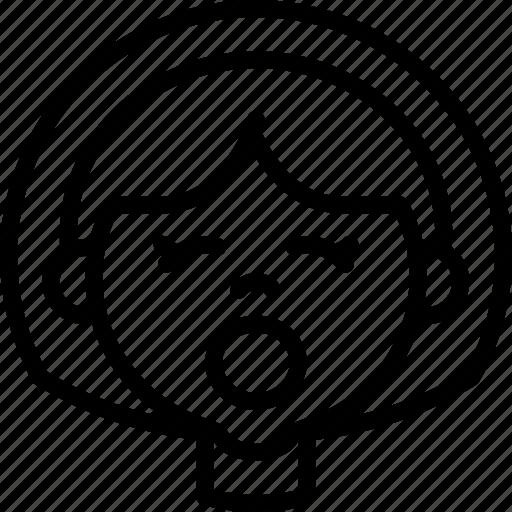 Avatars, cartoon, emoji, emoticons, girl, tired icon - Download on Iconfinder