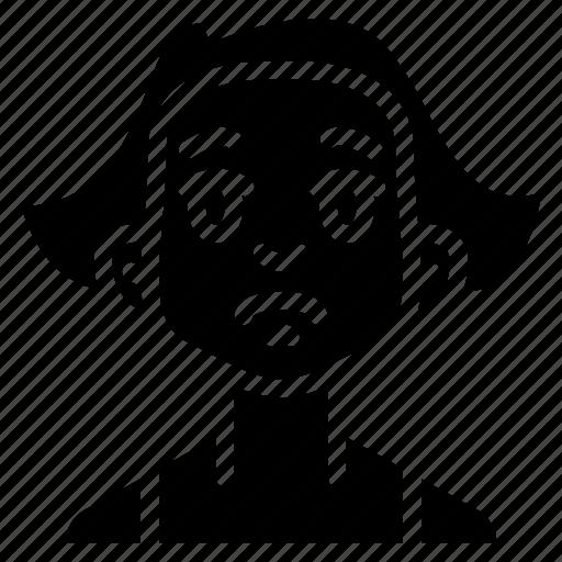 avatars, cartoon, emoji, emoticons, girl, sad icon