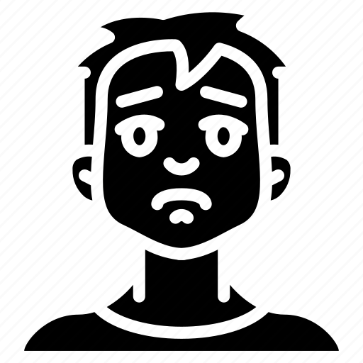 avatars, boy, cartoon, emoji, emoticons, sad icon