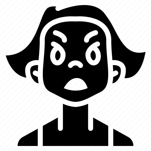 Angry, avatars, cartoon, emoji, emoticons, girl icon - Download on Iconfinder