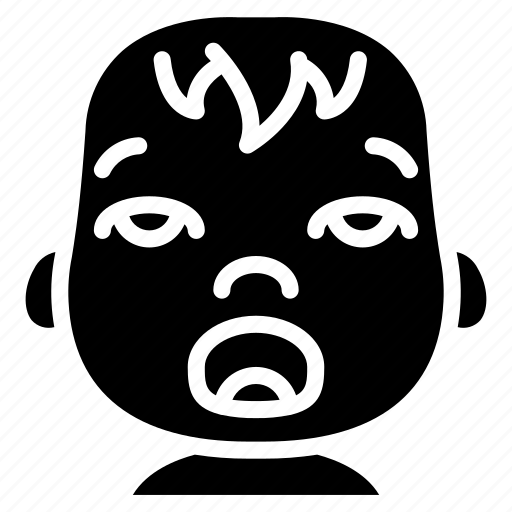 avatars, baby, cartoon, emoji, emoticons, tired icon