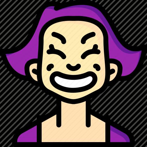 Avatars, cartoon, cheesey, emoji, emoticons, girl icon - Download on Iconfinder