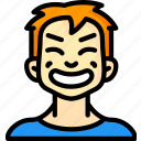 avatars, boy, cartoon, cheesey, emoji, emoticons icon