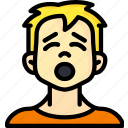 avatars, boy, cartoon, emoji, emoticons, tired