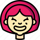avatars, cartoon, cheesey, emoji, emoticons, girl icon