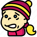 avatars, cartoon, cold, emoji, emoticons, girl