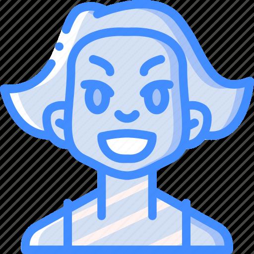 Avatars, cartoon, emoji, emoticons, girl, happy icon - Download on Iconfinder