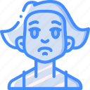 avatars, cartoon, emoji, emoticons, girl, sad icon