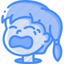 avatars, cartoon, crying, emoji, emoticons, girl
