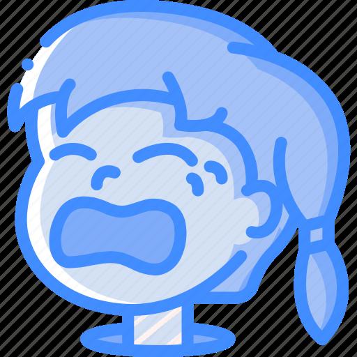 Avatars, cartoon, crying, emoji, emoticons, girl icon - Download on Iconfinder