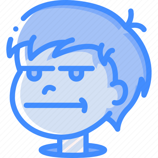 avatars, bored, boy, cartoon, emoji, emoticons icon